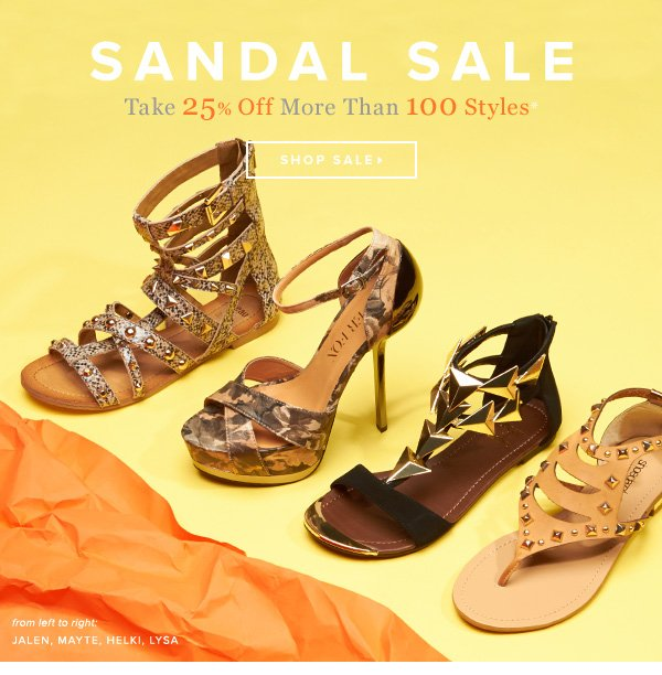 Sandal Sale: Take 25% Off for a Limited Time Only - - Shop Sale