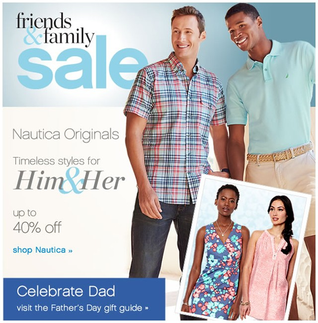 Friends and Family Sale. Up to 40% off. Shop Nautica.