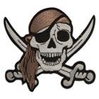 Pirate Skull With Crossing Swords Biker Patch