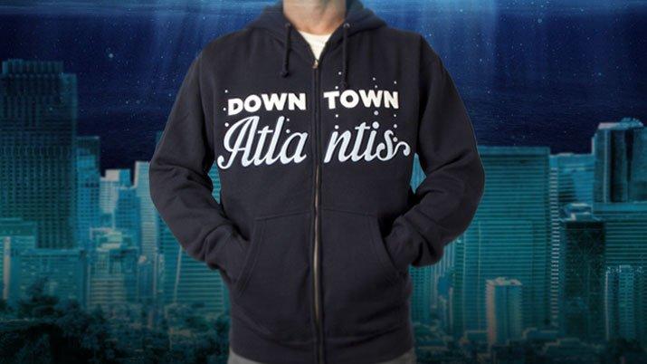 Downtown Atlantis Zip Hoodie