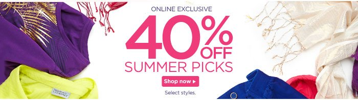 40% Off Summer Picks