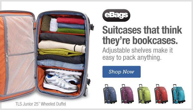 Shop eBags Wheeled Duffels >