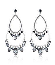 Tosha Silver Night Pierced Earrings