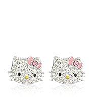Hello Kitty Pink Bow Pierced Earrings