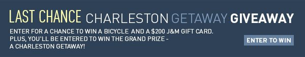 Last Chance - Charleston Getaway Giveaway