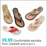 39.99 Comfortable sandals from Clarks® and b.ø.c