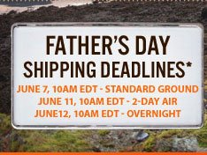 Order by June 7, 10AM EDT for standard ground shipping in time for Father's Day