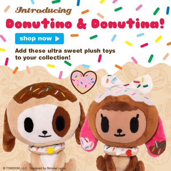 Donutina and Donutino - add these ultra sweet plush toys to your collection