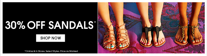 Shop 30% Off Sandals
