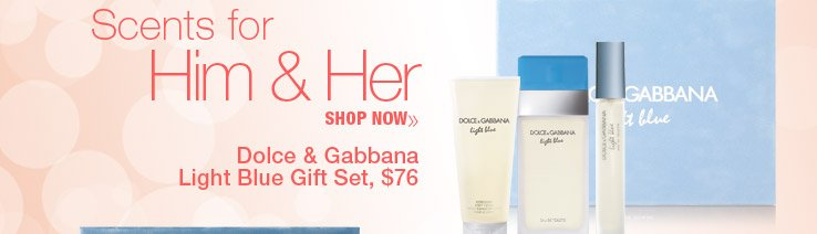 Dolce & Gabbana Light Blue Gift Set $76. Shop Now.