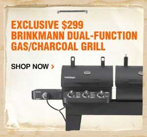$299 Brinkmann Dual-Function Gas/Charcoal Grill