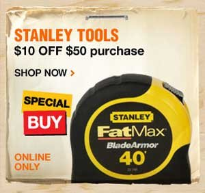 Stanley Tools $10 off $50 purchase