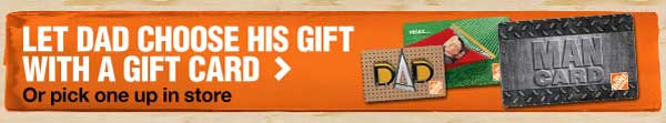 Let Dad Choose His Gift With a Gift Card