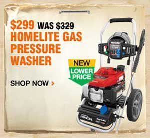 $299 Homelite Gas Pressure Washer