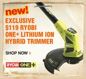 $119 Ryobi One+ Lithium Ion Hybrid Trimmer