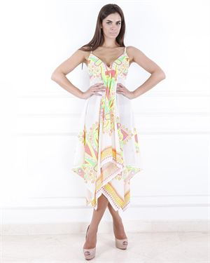 Julea Domani Asymmetric Base Ruffled Dress
