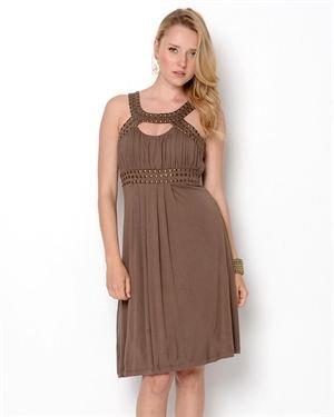 Kische Studded Trim Dress