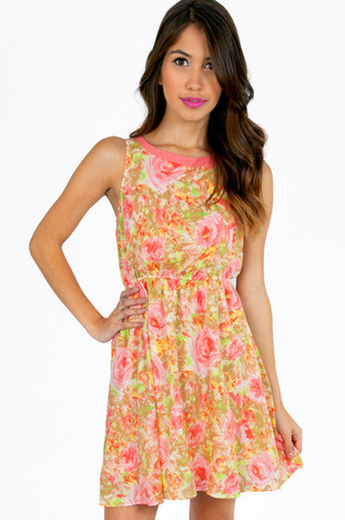 DOLLHOUSE FLORAL DRESS 39