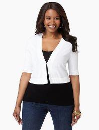 Catherines Plus Size Signature Shrug - Women's Size 1X,2X,3X,0X, White