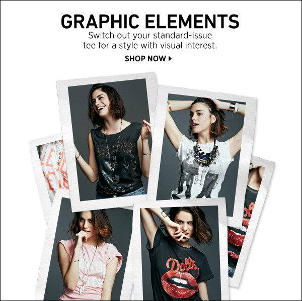 Switch out your standard-issue tee for a style with visual interest. Shop now >>