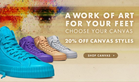 20% OFF CANVAS STYLES