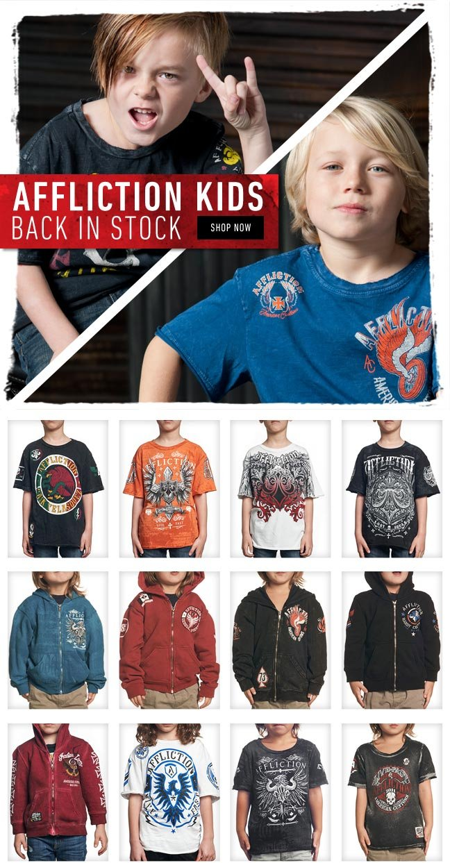 Kids Tees + Hoods Back in Stock