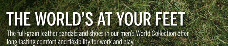 The World's At Your Feet Shop Now