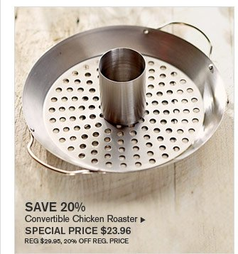 SAVE 20% - Convertible Chicken Roaster  - SPECIAL PRICE $23.96 (REG $29.95, 20% OFF REG. PRICE)