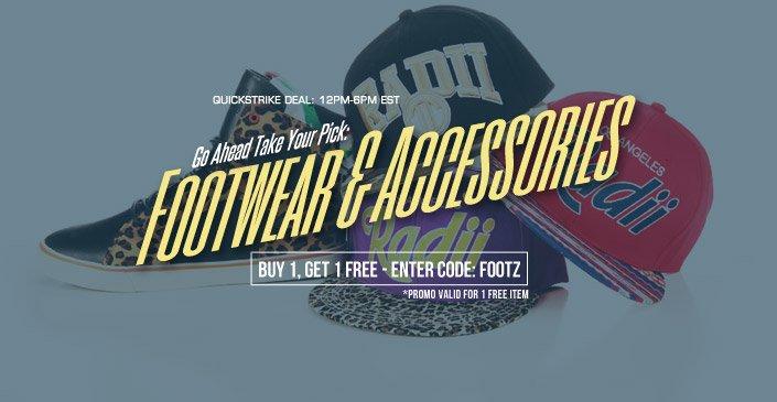 Footwear & Accessories Buy One Get One Free