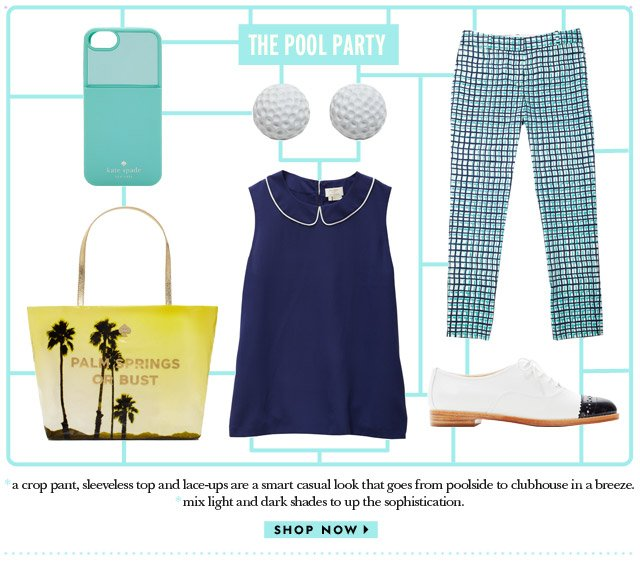 the pool party. shop now.