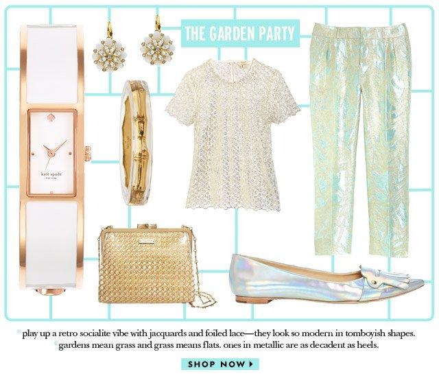 the garden party. shop now.