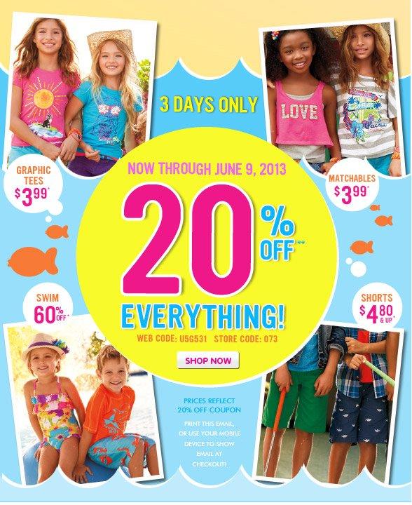 Enjoy 20% Off Everything!