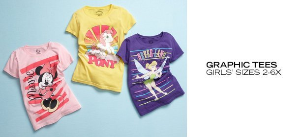 GRAPHIC TEES: GIRLS' SIZES 2-6X, Event Ends June 11, 9:00 AM PT >