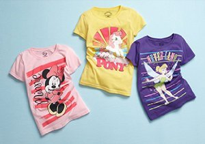Graphic Tees: Girls' Sizes 2-6X