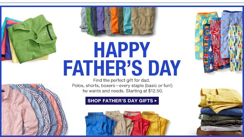 HAPPY FATHER'S DAY   SHOP FATHER'S DAY GIFTS