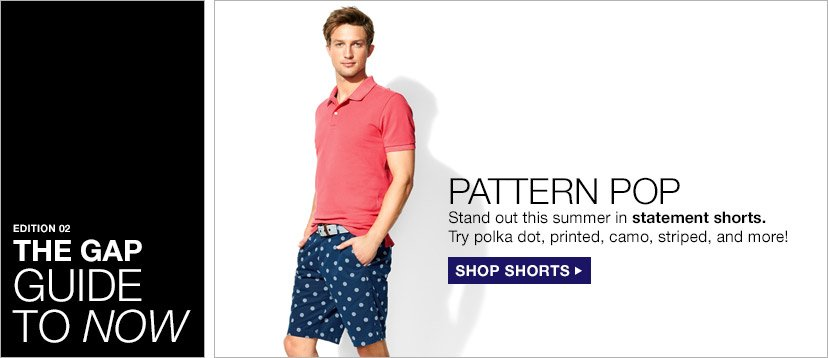 EDITION 02   THE GAP GUIDE TO NOW   PATTERN POP   SHOP SHORTS