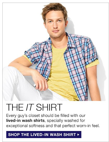 THE IT SHIRT   SHOP THE LIVED-IN WASH SHIRT