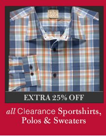 Clearance Sportshirts & Polos