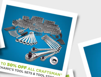 UP TO 50% OFF ALL CRAFTSMAN MECHANIC'S TOOL SETS & TOOL STORAGE