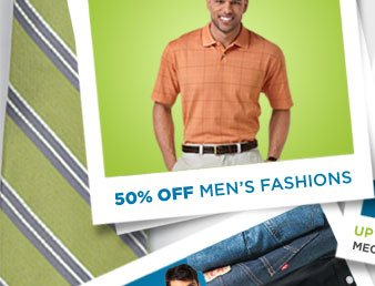 50% OFF MEN'S FASHIONS