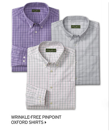 Relaxed Fit Wrinkle-Free Pinpoint Oxford Shirts