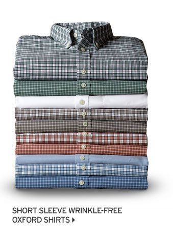 Short Sleeve Wrinkle-Free Oxford Shirts