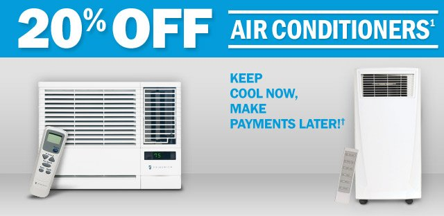 20% OFF Air Conditioners