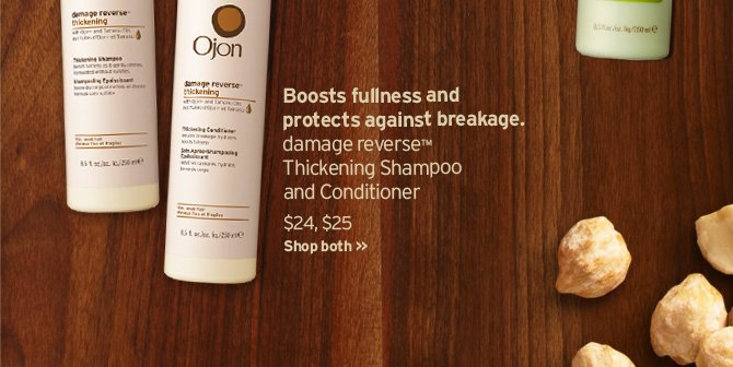 Boosts fullness and protects against breakage damage reverse  Thickening Shampoo and Conditioner SHOP NOW