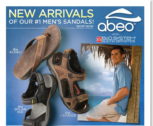 Shop the NEW ABEO B.I.O.system arrivals for men and give Dad the ultimate gift of comfort with a 3-D fit for Father's Day! Shop now and enjoy FREE 2nd Day Shipping on any regular priced men's footwear purchase.* Find the best selection online and in-stores at The Walking Company.