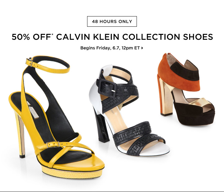 50% Off* Calvin Klein Collection Shoes For Her...Shop Now