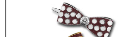 MISS BENDEL BOW DOTS BARRETTE
