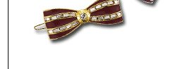 MISS BENDEL BOW CRYSTAL BARRETTE