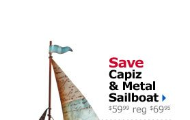 Save Capiz & Metal Sailboat