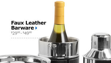 Faux Leather Barware